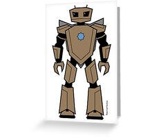 Vectorbot 007 Greeting Card