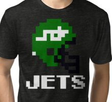 Tecmo Bowl New York Jets Football 8-Bit NES Nintendo Helmet Shirt T-shirt Tri-blend T-Shirt
