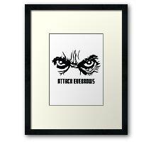 Attack Eyebrows Framed Print