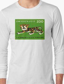Polish Zoo Tiger Matchbox Label Long Sleeve T-Shirt