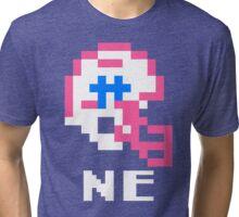 Tecmo Bowl New England Patriots Football 8-Bit NES Nintendo Helmet Shirt T-shirt Tri-blend T-Shirt