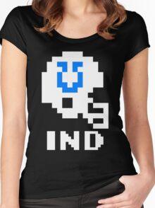 Tecmo Bowl Indianapolis Colts Football 8-Bit NES Nintendo Helmet Shirt T-shirt Women's Fitted Scoop T-Shirt