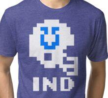 Tecmo Bowl Indianapolis Colts Football 8-Bit NES Nintendo Helmet Shirt T-shirt Tri-blend T-Shirt