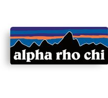 Alpha Rho Chi with Mountain Background Canvas Print