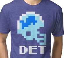 Tecmo Bowl Detroit Lions Football 8-Bit NES Nintendo Helmet Shirt T-shirt Tri-blend T-Shirt
