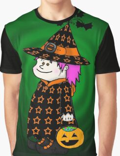 Little Trick-O-Treat Witch Graphic T-Shirt