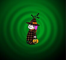 Little Trick-O-Treat Witch by Beth Alcala