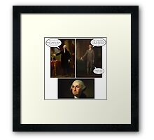 Hamilton x The West Wing - Secret Plan Framed Print
