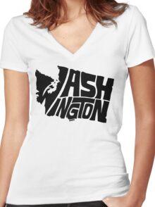 Washington Women's Fitted V-Neck T-Shirt