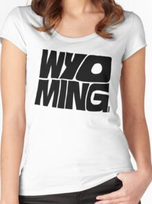 Wyoming Women's Fitted Scoop T-Shirt