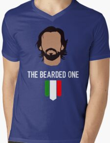 Pirlo THE BEARDED ONE Mens V-Neck T-Shirt