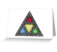 The Deathly Triforce Greeting Card