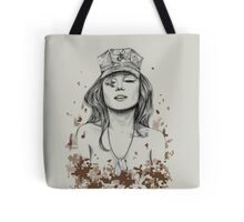 Sexy Marine Pin-Up Tote Bag