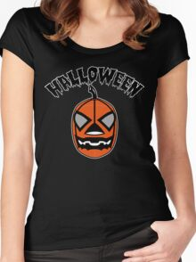 Jack-o'-Lantern LUCHA Women's Fitted Scoop T-Shirt
