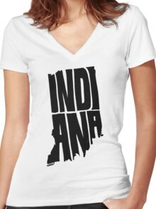 Indiana Women's Fitted V-Neck T-Shirt