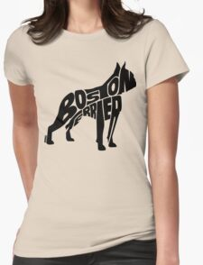 Boston Terrier Black Womens Fitted T-Shirt