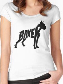 Boxer Black Women's Fitted Scoop T-Shirt