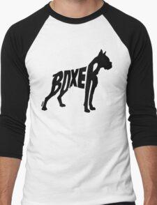 Boxer Black Men's Baseball ¾ T-Shirt
