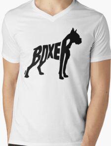 Boxer Black Mens V-Neck T-Shirt