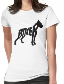 Boxer Black Womens Fitted T-Shirt
