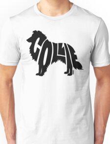 Collie Black Unisex T-Shirt