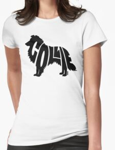 Collie Black Womens Fitted T-Shirt