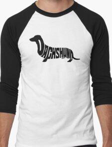 Dachshund Black Men's Baseball ¾ T-Shirt