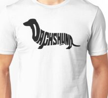 Dachshund Black Unisex T-Shirt