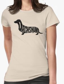 Dachshund Black Womens Fitted T-Shirt