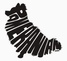 Pomeranian Black One Piece - Short Sleeve