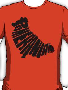 Pomeranian Black T-Shirt