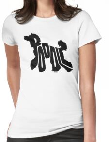 Poodle Black Womens Fitted T-Shirt
