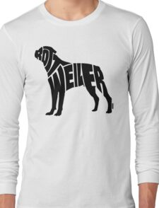 Rottweiler Black Long Sleeve T-Shirt