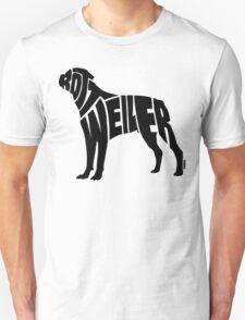 Rottweiler Black T-Shirt