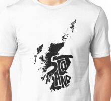 Scotland Black Unisex T-Shirt