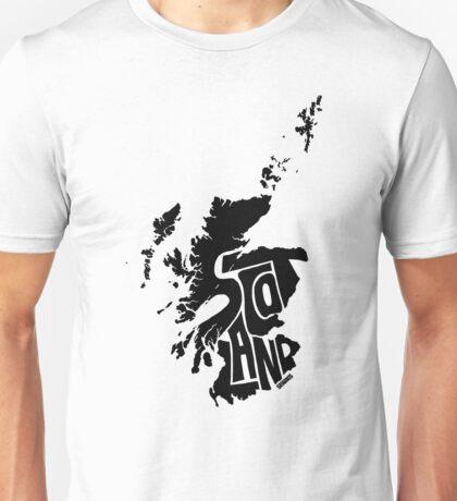 Scotland Black Unisex T-Shirt