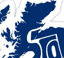 Scotland Blue Sticker