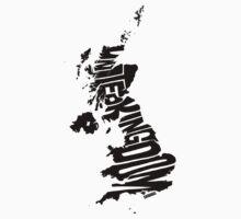 United Kingdom Black Kids Tee
