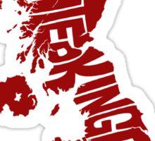 United Kingdom Red Sticker