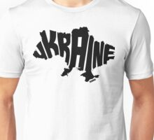 Ukraine Black Unisex T-Shirt