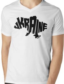 Ukraine Black Mens V-Neck T-Shirt