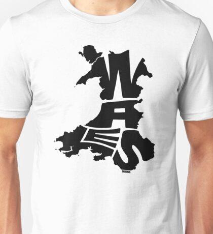Wales Black Unisex T-Shirt