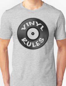 Vinyl Rules Unisex T-Shirt
