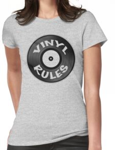 Vinyl Rules Womens Fitted T-Shirt