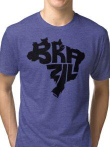 Brazil Black Tri-blend T-Shirt