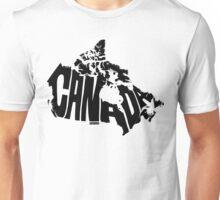 Canada Black Unisex T-Shirt