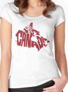 Canada Red Women's Fitted Scoop T-Shirt