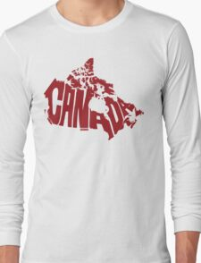 Canada Red Long Sleeve T-Shirt