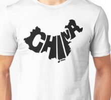 China Black Unisex T-Shirt