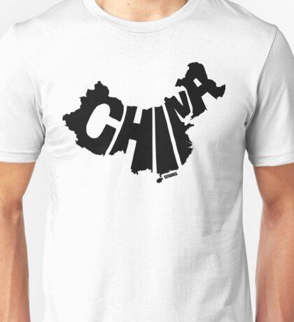 China Black Unisex T-Shirt